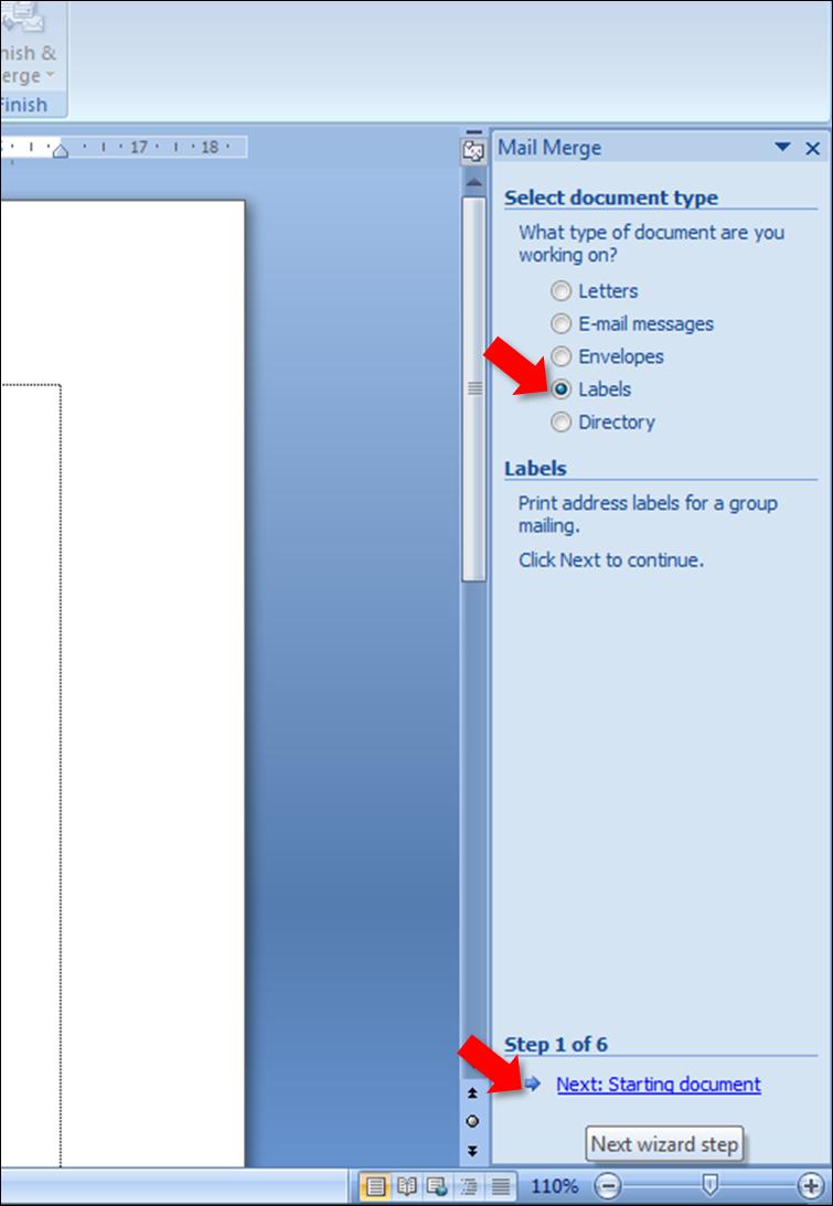 Ketiga, mucul kotak dialog mail merge, terus pilih label terus klik ...