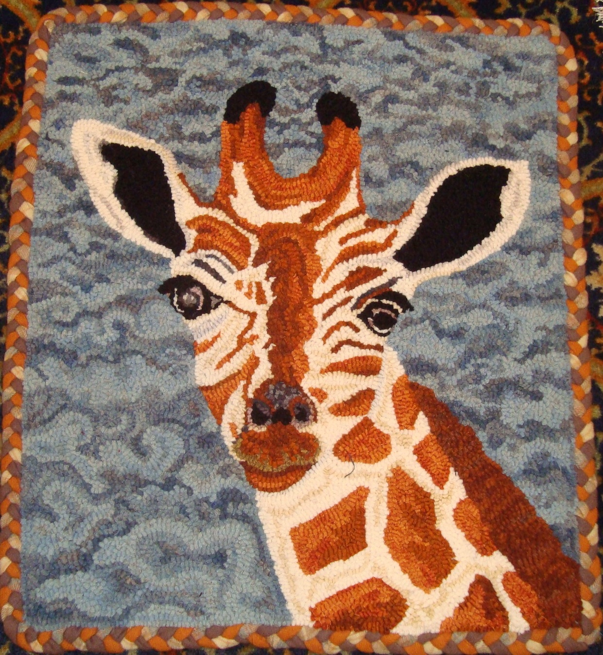 Saundra Of Woodland Junction: Finished Rugs Shown At Camp