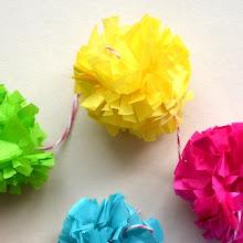 DIY paper pompons