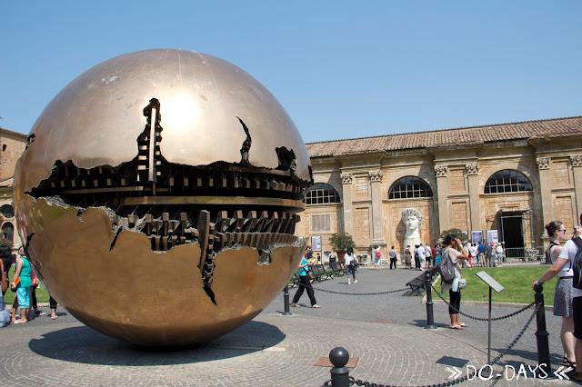 Rom Vatikanische Museen Weltkugel