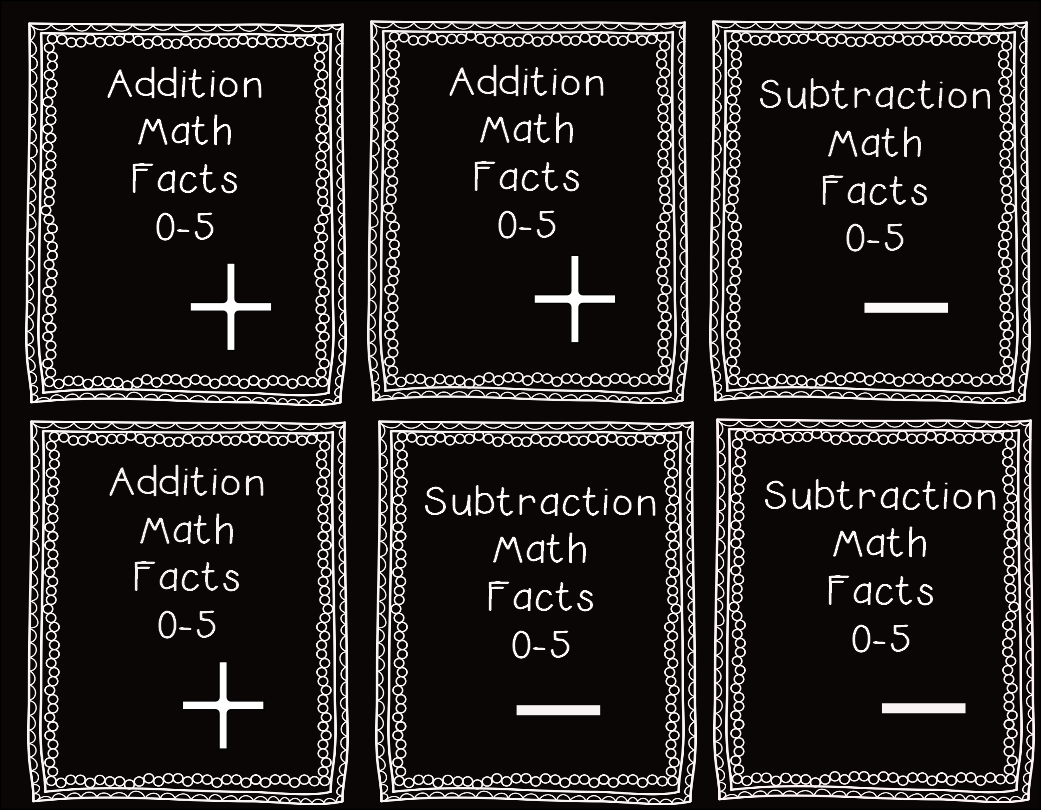 http://www.teacherspayteachers.com/Product/0-5-addition-and-subtraction-fact-cards-1182570