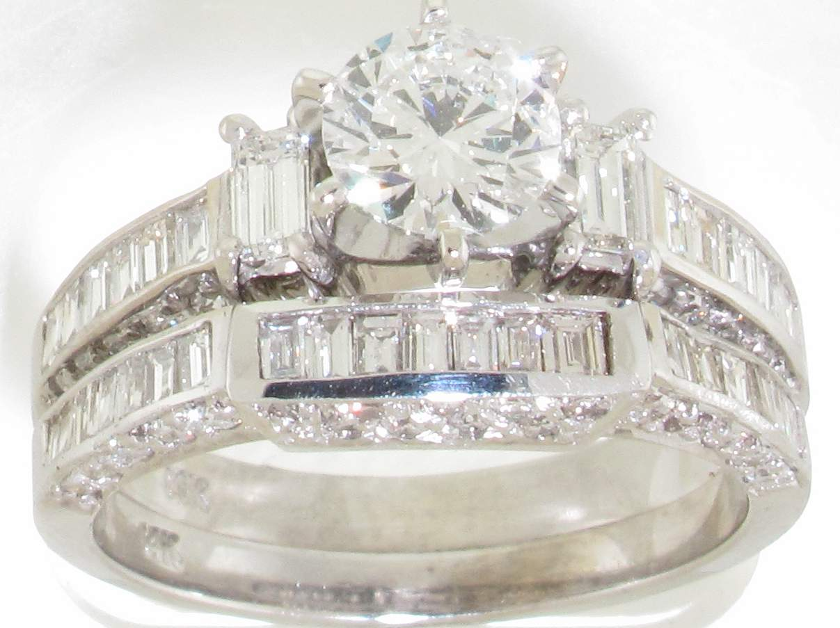 Wedding rings diamond wedding ring sets for for Wedding set diamond rings