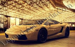 Gold smart car