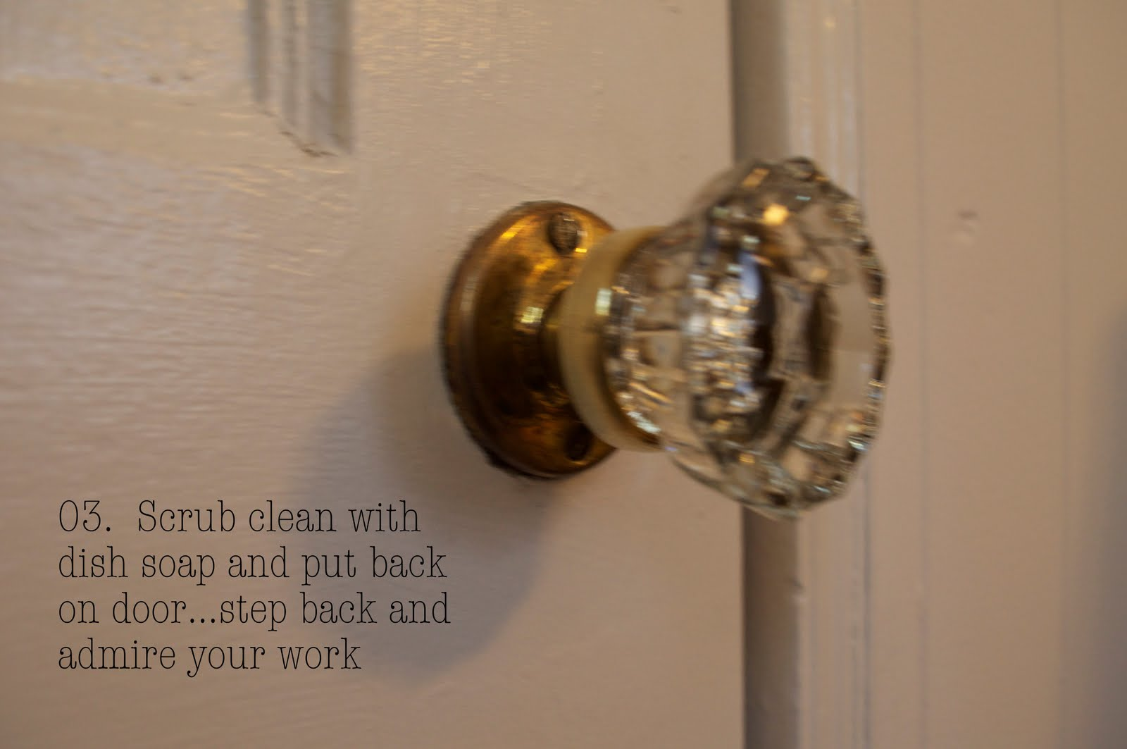 how to clean up old knobs furniture