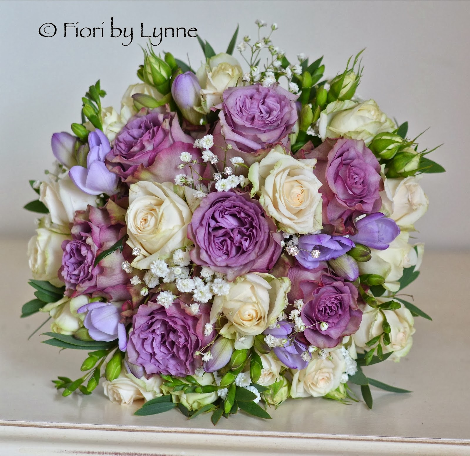 Vintage Purple Wedding Flowers Marilyn S Antique And Cream