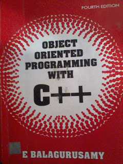E BalaguruSamy C++ Object Oriented Programming 4e Cover