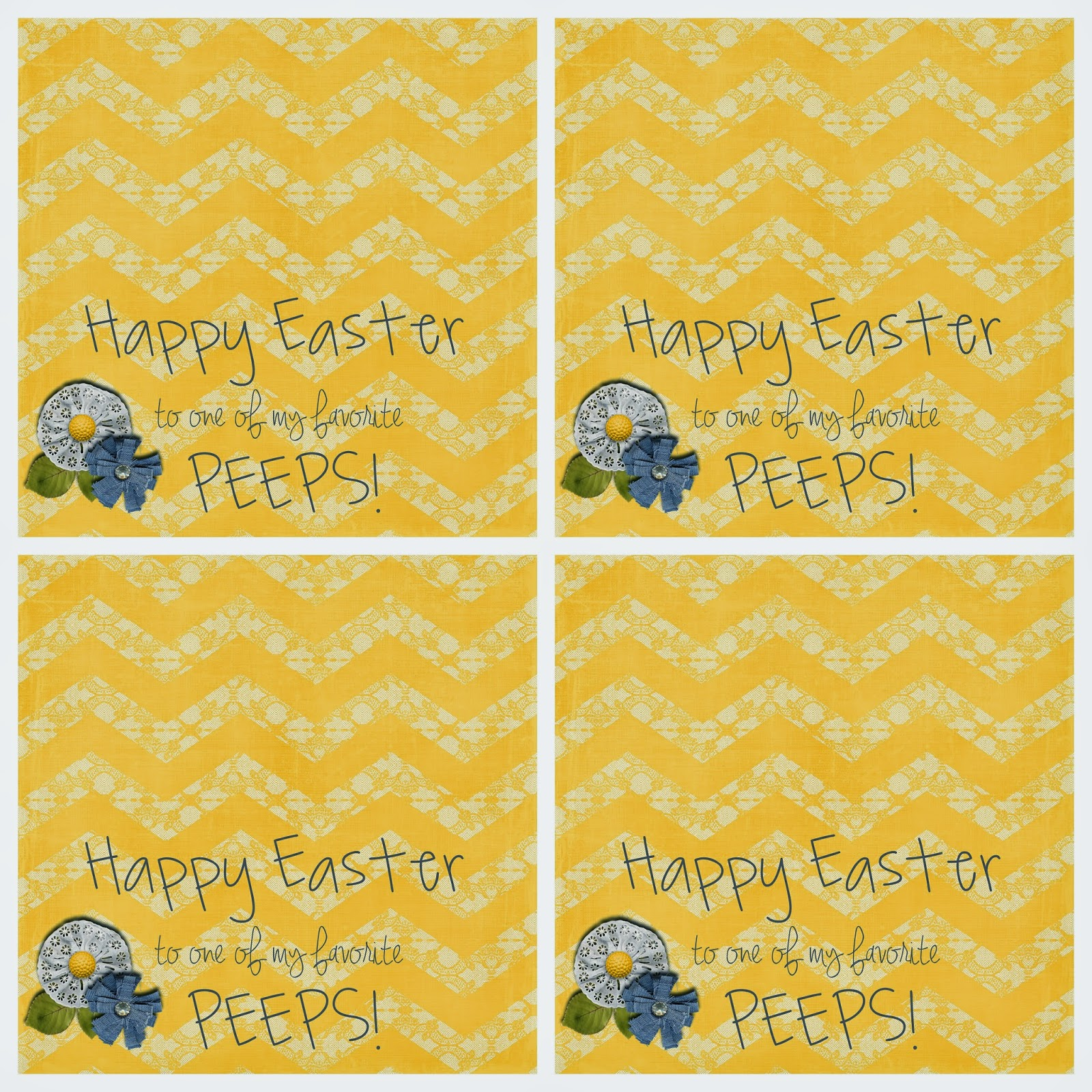Easter Peeps S'mores free printable