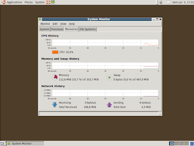 Imagen de una instalación mínima de Gnome en Ubuntu Server 10.04