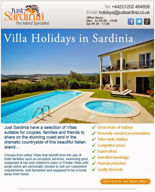 Villa Holidays in Sardinia