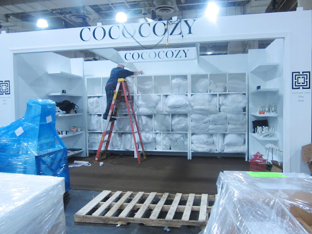 Taking the lights on the COCOCOZY booth at New York International Gift Fair down