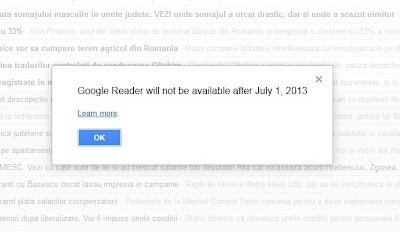 inchidere Google Reader