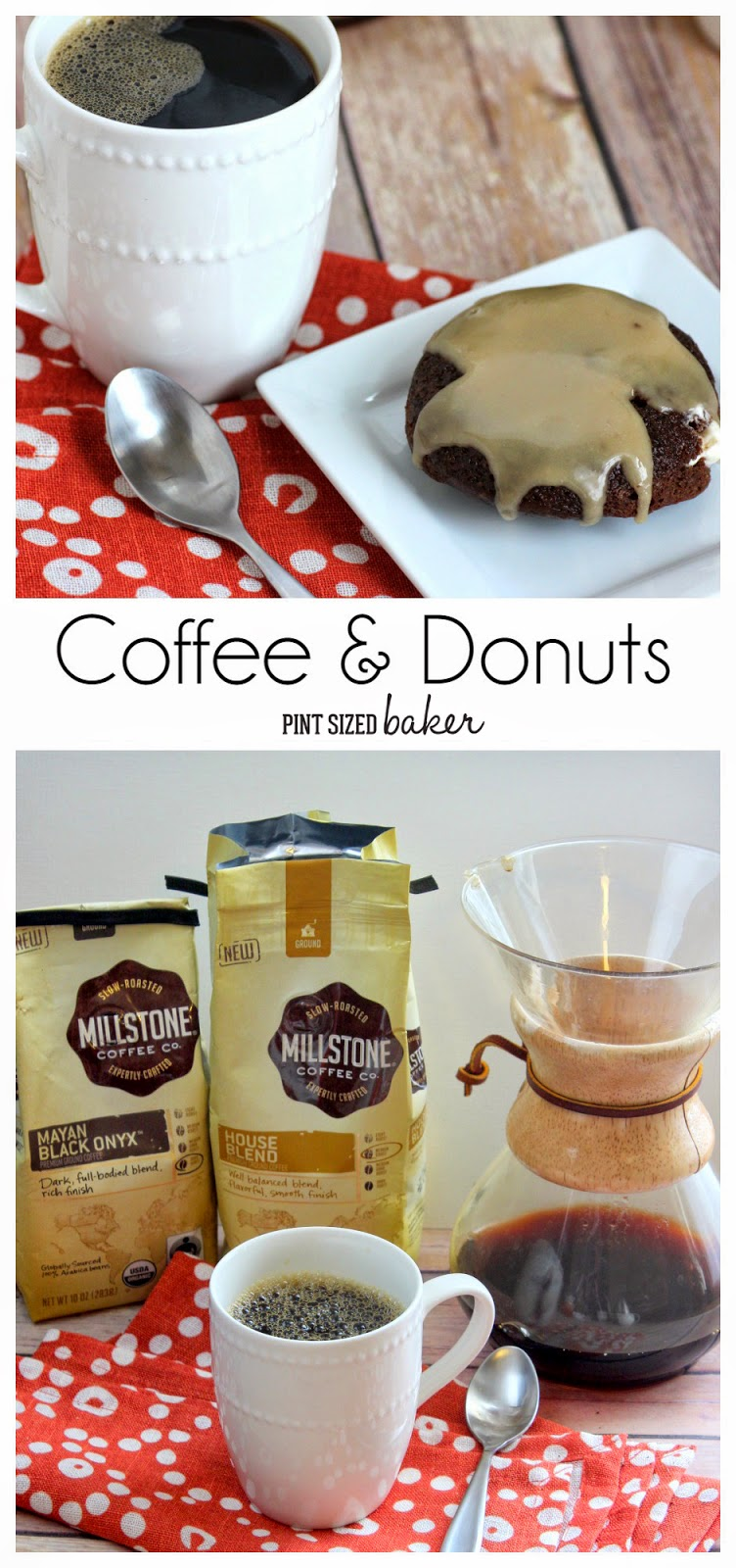Cream Filled Chocolate Donuts with Coffee Glaze. Wake up with #MillstoneCoffee and Fresh Donuts!