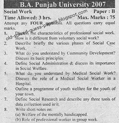 social work paper