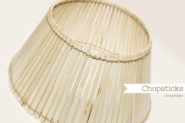 Lámpara con palillos chinos en Recicla Inventa