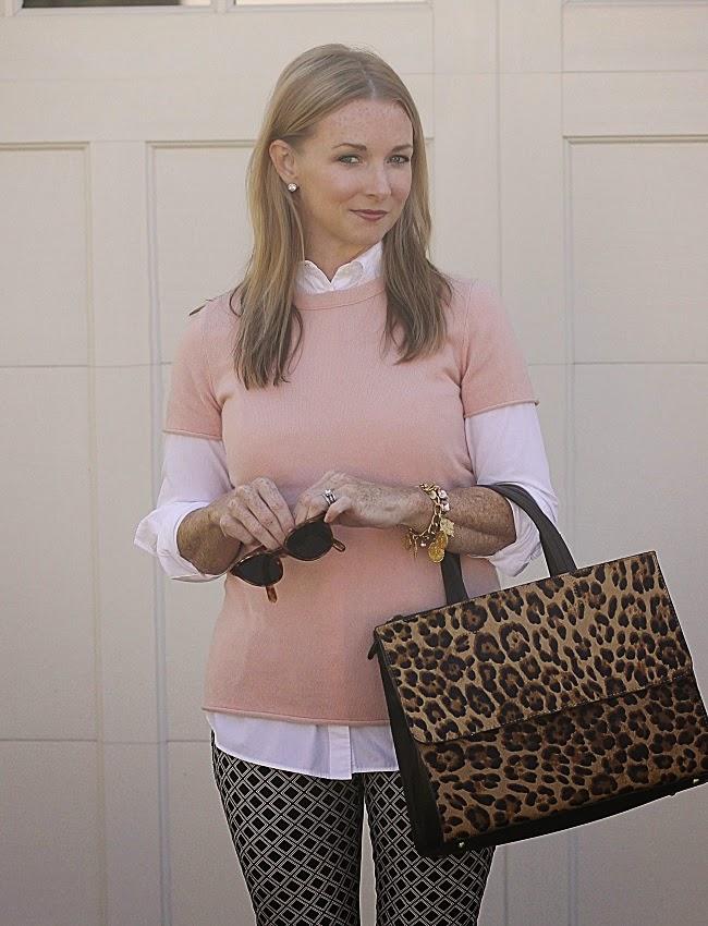 nordstrom crystal earrings, julie vos coin bracelet, elizabeth and james sungalsses, boden leopard handbag
