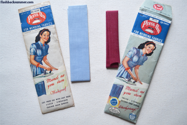 Flashback Summer: No-Sew Embellishing with 1940s Mending Tape - Press-On