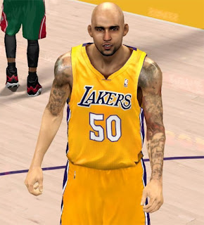 NBA 2K13 Robert Sacre Cyber Face Patch