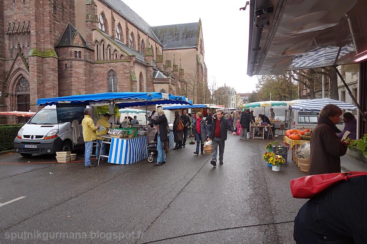 Рынок, площадь Сен-Жозеф, Кольмар