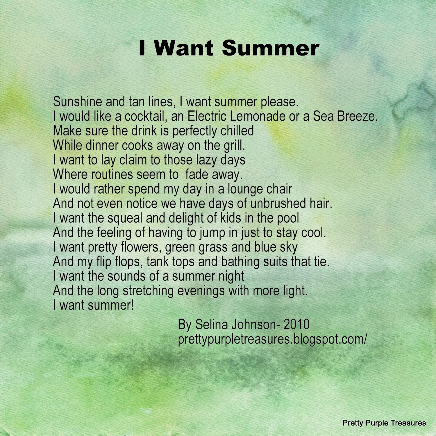 Mom Summer poem