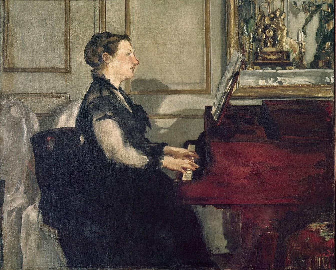 Édouard Manet, Madame Manet al piano (h.1868), Museo d'Orsay, París