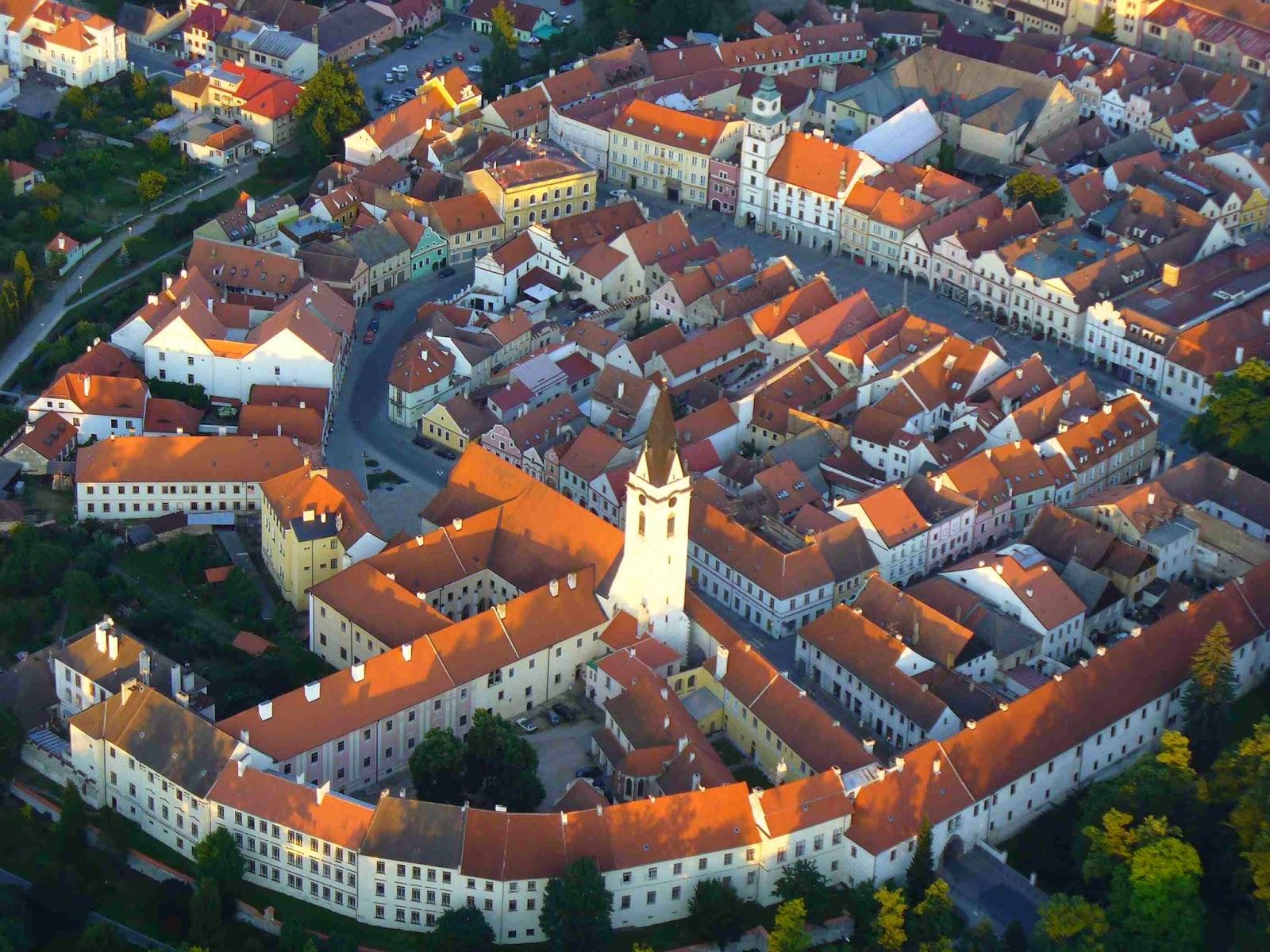historické centrum Třeboně z ptačí perspektivy