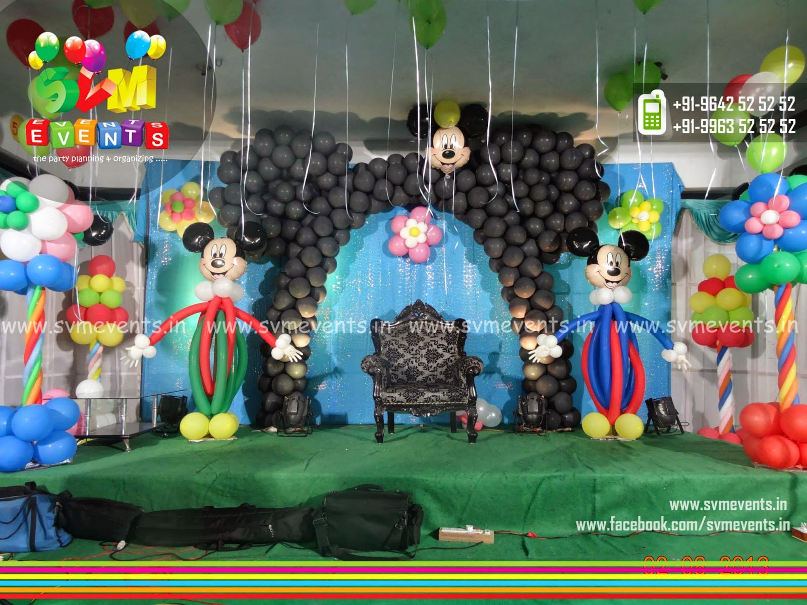 Svm events amazing balloon decorations for kids birthday for 1st birthday stage decoration