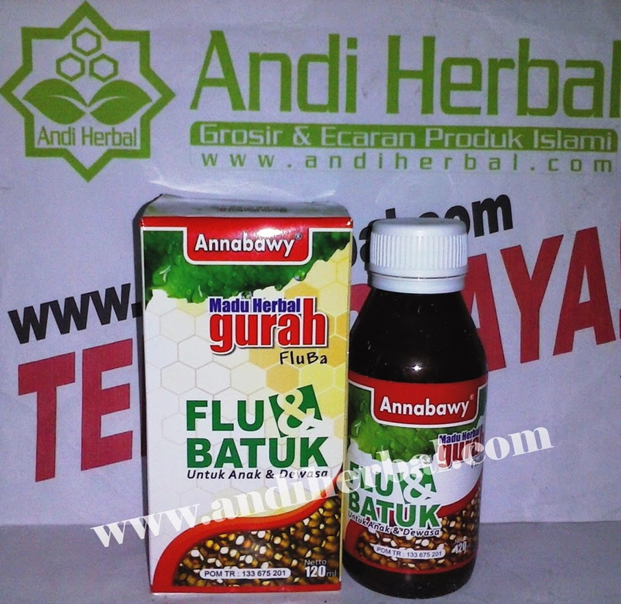 Madu Herbal Gurah Flu dan Batuk Untuk Anak dan Dewasa Annabawy 120 ml Andiherbal.com