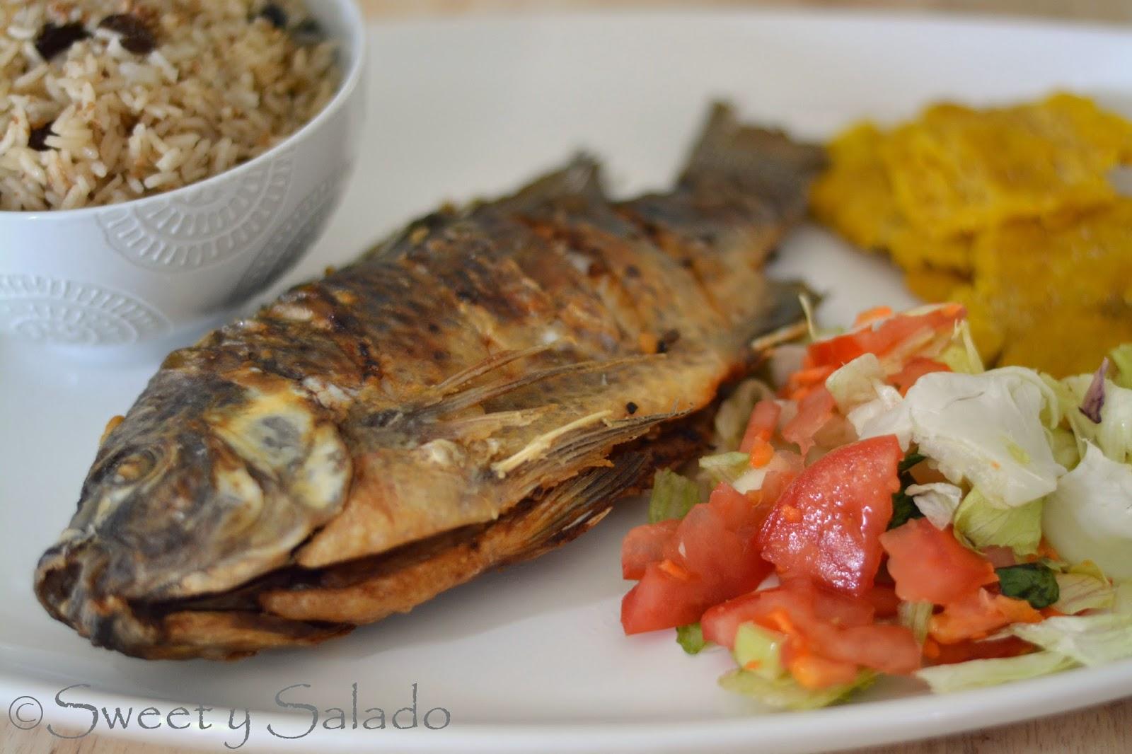 Sweet y salado pescado frito colombiano - Cocinar pescado congelado ...