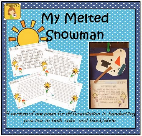 http://www.teacherspayteachers.com/Product/FREEBIE-My-Melted-Snowman-Handwriting-Practice-1645614
