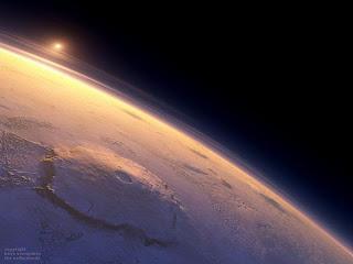 Олимп – потухший вулкан, высочайшая гора Солнечной системы