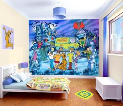 Decoraciones y mas coloridos murales gigantes para for Decoracion de cuartos de ninos de futbol
