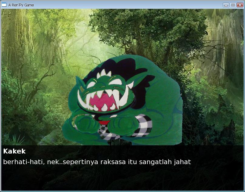 Serta game dongeng virtual berjudul TIMUN MAS yang dibuat oleh