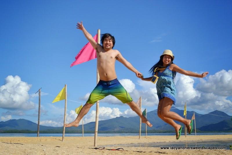 Lady and Ed in Honda Bay Palawan