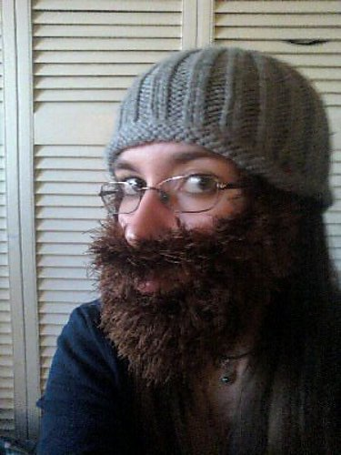 Knitting Patterns By Needle Size : Shadowspinning: A rather fun knitted beard