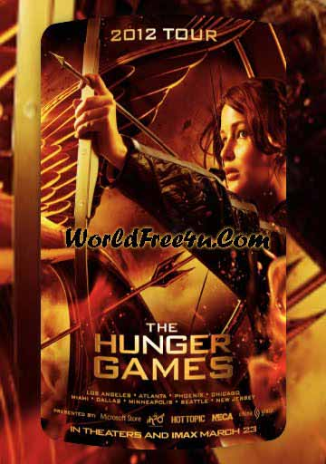 Poster Of The Hunger Games (2012) Full Movie Hindi Dubbed Free Download Watch Online At worldfree4u.com