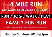 4 mile race in Rathmore, Kerry...Sun 5th June 2016