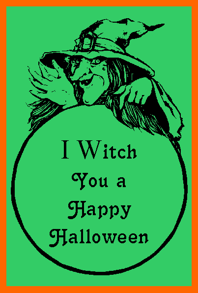 Happy Halloween quote, witch poster