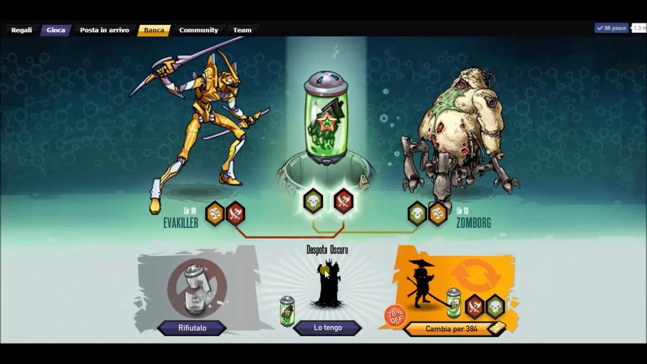 Mutants: Genetic Gladiators Breeding video N°6 (Stealth Bot - Zomborg)