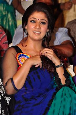 Pretty blooming Nayanthara latest photos in saree at nandi awards 2013 HQ pic collection