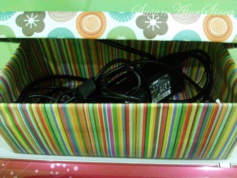 Step By Step DIY Shoe Box Untuk Sembunyikan Wayar Berselirat
