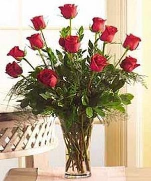 One dozen red roses international delivery flower for 12 dozen roses at your door