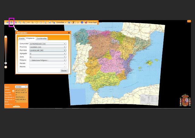Geoturismo en el geoparque villuercas herramientas en for Oficina virtual del catastro murcia