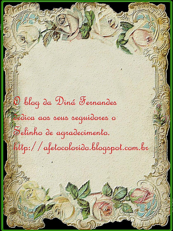 Selo de agradecimento da Diná Fernandes