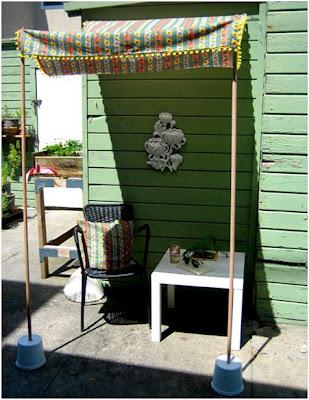 ideas para decorar el jardin con un toldo