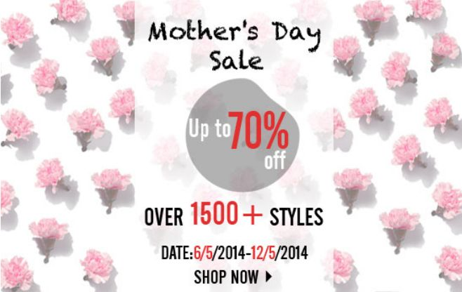 romwe  mother's day sale