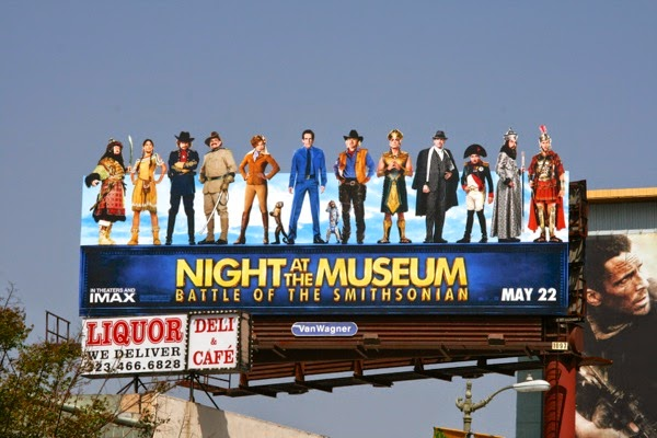 Night at the Museum Battle of Smithsonian movie billboard