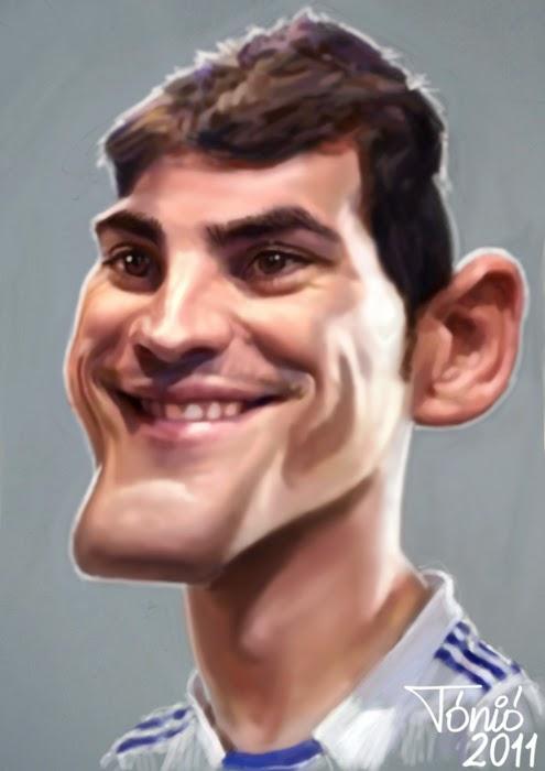 Gambar Karikatur Iker Casillas Piala Dunia 2014 Pemain Sepakbola Ganteng