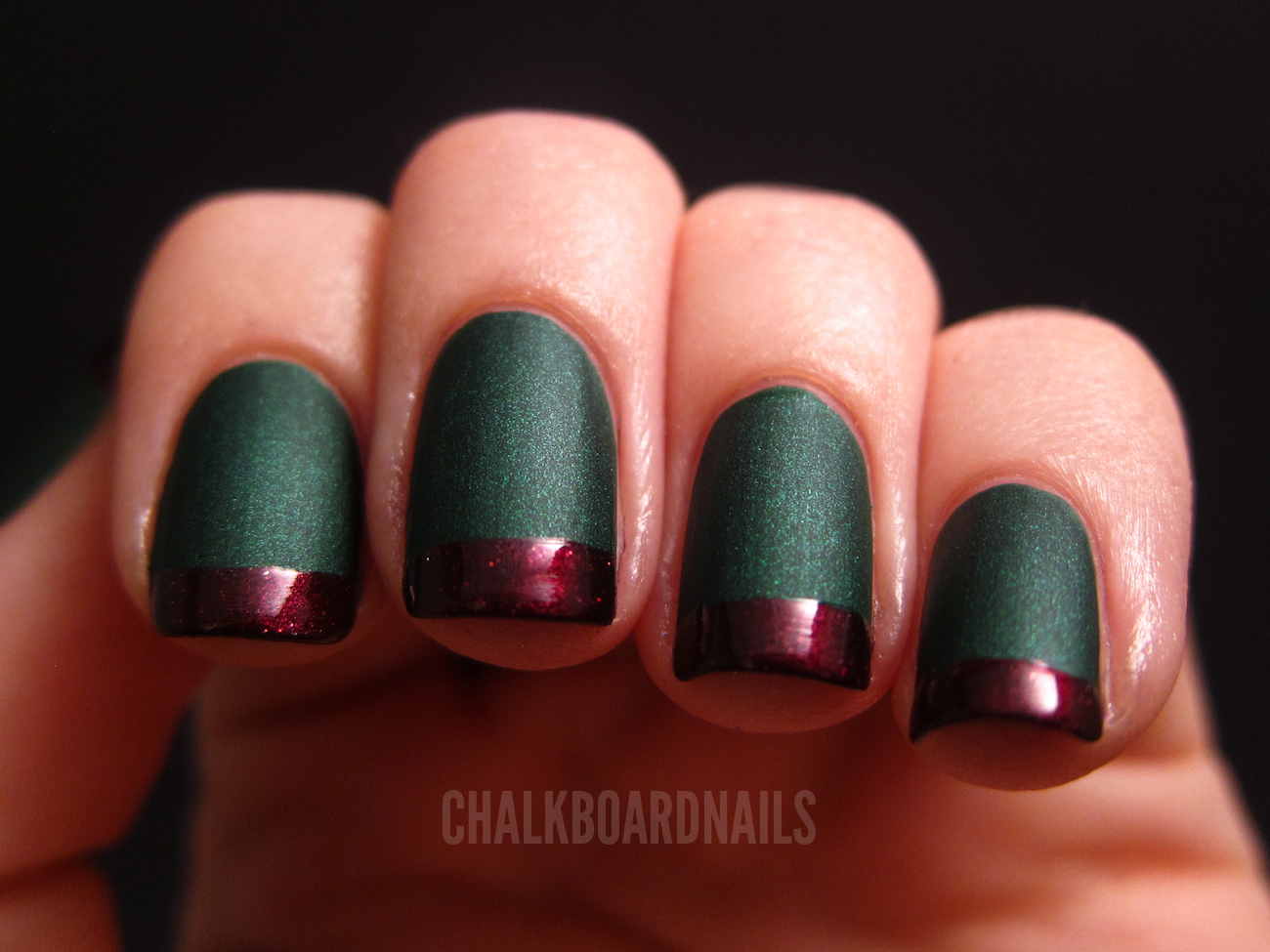 Holiday French Tips! | Chalkboard Nails | Nail Art Blog