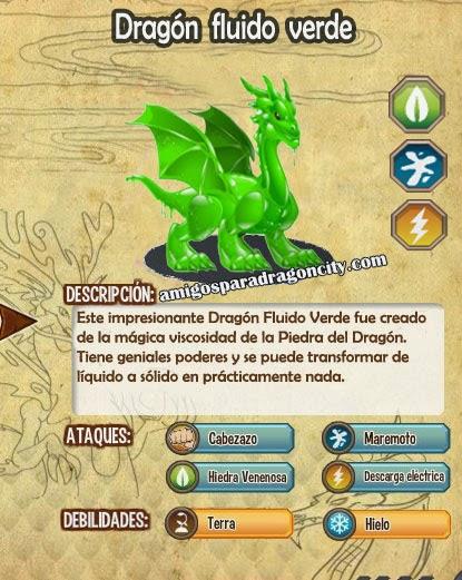 imagen de las caracteristicas del dragon dragon fluido verde