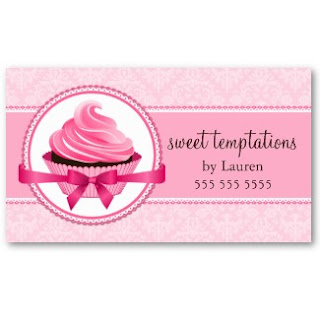 Business card showcase by socialite designs elegant cupcake bakery these business cards are easy to customize with your business information click on any of the images below to view the entire business card design in my reheart Choice Image